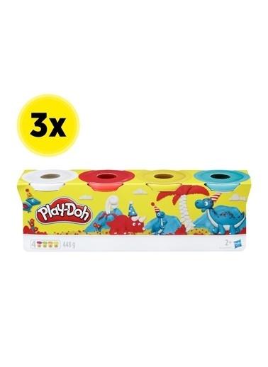 Hasbro Play-Doh 4'Lü Hamur X 3 Adet Renkli